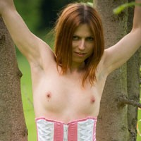 First Time With Nicola - Lingerie, Nature, Redhead
