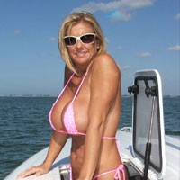 Chrissy On The Boat II - Big Tits, Bikini, Blonde Hair, Milf, Beach Voyeur, Wife/Wives