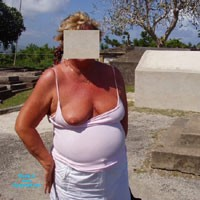 Flashing - Flashing, Public Exhibitionist, Public Place, Big Tits
