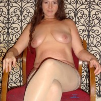 Wet and Naked Again - Big Tits, Brunette Hair
