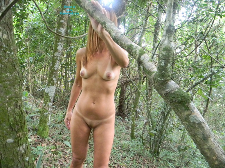 Pic #1 - Hana Came Back - Brunette Hair, Nude In Public, Pussy Lips, Shaved, Small Tits , I Was Alone In The Woods And Thought About Doing Some Pictures For You Guys And For Me Too, I Love Reading Your Comments This Is Exciting For Me Too ...