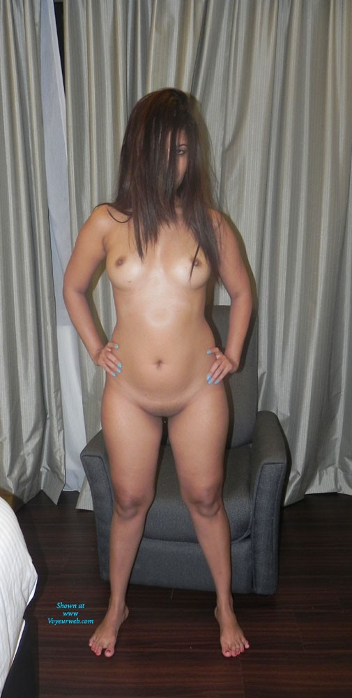 Pic #1 - Wild And Crazy Hot Wife!!! - Big Tits, Brunette Hair, Hairy Bush, Pussy Lips, Wife/Wives