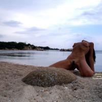 Beauty On The Beach - Landing Strip, Small Tits, Spread Legs