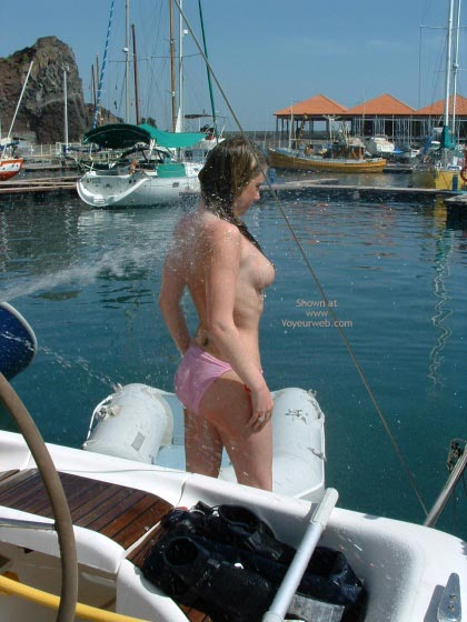 Pic #4 - Topless Shower In Crowded Marina