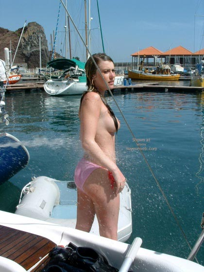 Pic #5 - Topless Shower In Crowded Marina