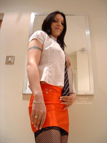 Pic #2 - English Schoolgirl In Mini And Stockings