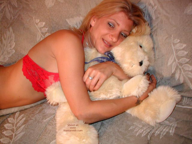 Pic #2 - Sweet Jessi In Red With Teddy