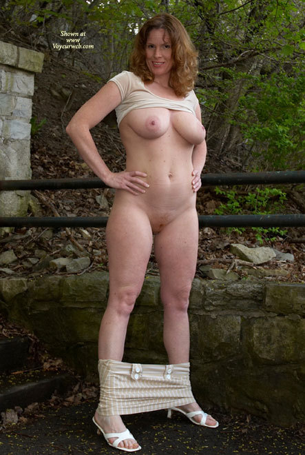 Curvy Womanly Hips And Thighs - Big Tits, Hairy Bush, Milf, Nude Outdoors, Naked Girl, Nude Amateur , Breasts, Belly And Pussy Exposed, Looking Into Camera, Full Frontal Nude, Blouse Pulled Up Exposing Tits, Outdoor Frontal Nude, Natural Breasts, Hands On Hips, Skirt Pulled Down To Ankles, White Milf, D-cup Tits Breast