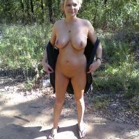 More of Jennie Outside - Blonde, Flashing, Big Tits
