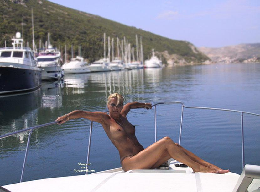 Pic #1 - Nude on The Boat - Big Tits, Blonde Hair, Wet , Crazy Day..