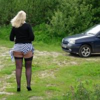 Sue For The Isle of Man Guys - Blonde, High Heels Amateurs, Outdoors, Mature, Big Ass