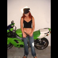 Ivy With Sport Bike