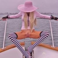 Countess Xotik Spreads Her Stripes - Blonde Hair, Nude Outdoors