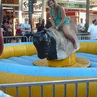 Girl on a Bull - Public Place