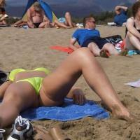 Bikini Cameltoe - Camel Toe, Beach Voyeur, Naked Girl, Nude Amateur