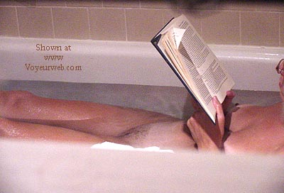 Pic #2 - *TW neighbor in tub reading