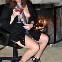 Tie and Heels - Brunette, Dressed