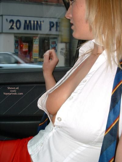 Pic #4 - Topless In Car