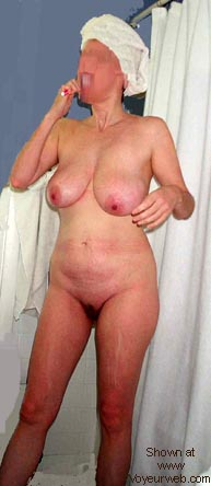 Pic #4 - Busty Wife's First Time