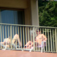 Neighbor Topless Sunbathing