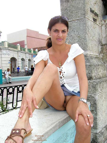 Pic #1 - Public Crotch Shot , Public Crotch Shot, Upskirt Pussy In Public, Upskirt In Public, Short Blue Skirt