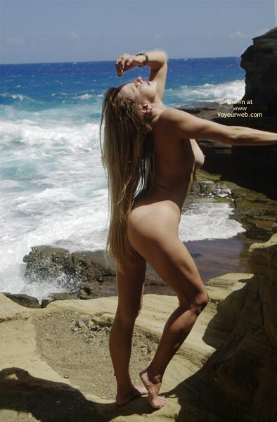 Pic #1 - Posing Nude At The Beach , Posing Nude At The Beach, Blond Long Hair
