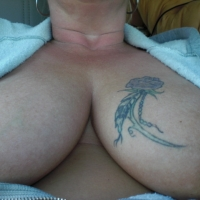 Very large tits of my wife - biggins