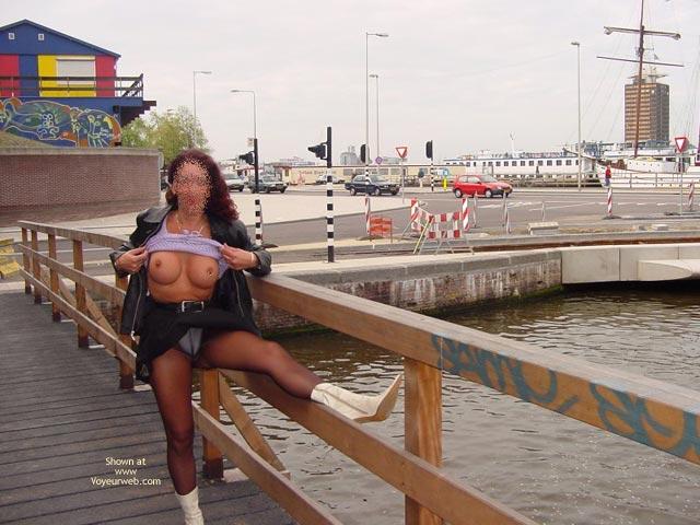 Pic #9 - Monique Flash Her Tits In Amsterdam