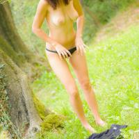 Glenda in The Hills - Brunette, Nature, Striptease, Outdoors, Big Ass