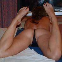 Butt Floss - Brunette Hair, Long Hair, Sexy Feet