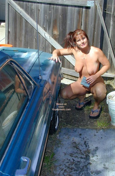 Pic #3 - *Hv Tm Works On Car And Waters Yard Nude