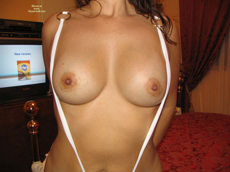 Pic #1 - Busty Topless Wicked Weasel With TV On - Blonde Hair, Erect Nipples, Large Aerolas, Long Hair, Perky Tits, Topless , Bare Tits With White Strap Tiny Swimsuit, C-cup Breasts, Topless In The Bedroom, Slingshot Suit With Boobs Out, Standing Topless, Large Brown Areolas