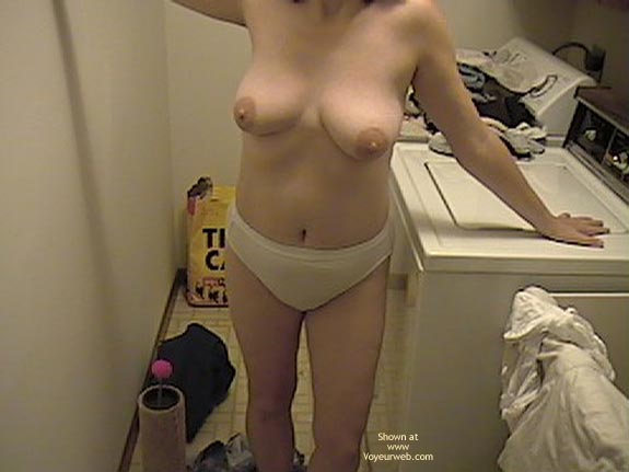 Pic #3 - Wife Doing Laundry Topless