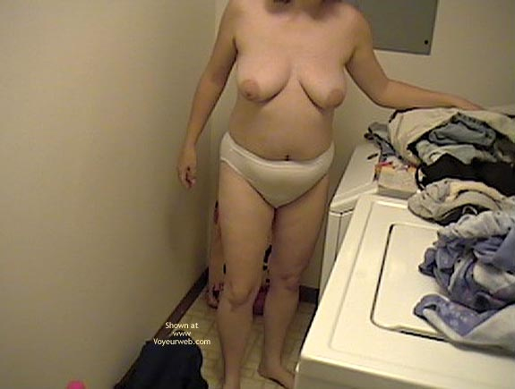 Pic #6 - Wife Doing Laundry Topless