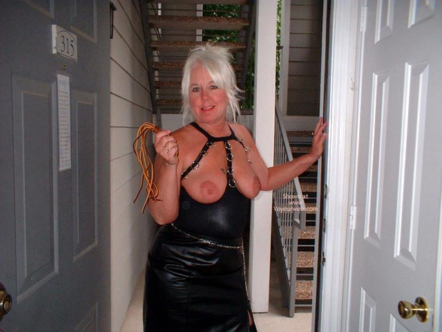 Pic #1 - Tammy In Mini And Stockings, With Whip