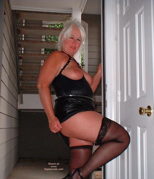 Pic #2 - Tammy In Mini And Stockings, With Whip
