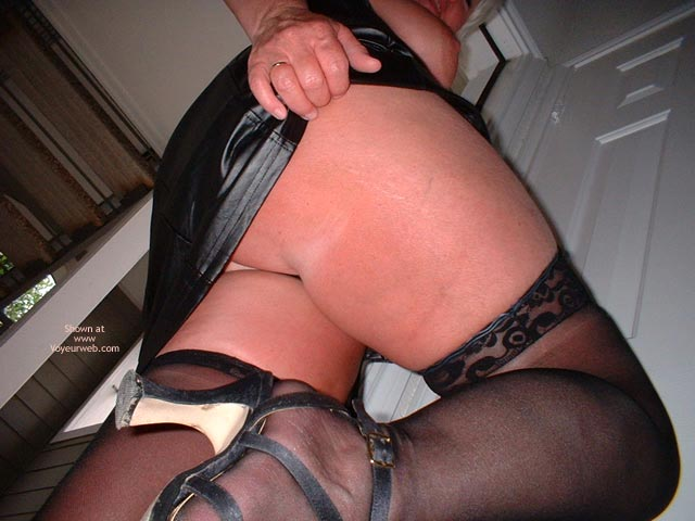 Pic #3 - Tammy In Mini And Stockings, With Whip