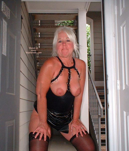 Pic #4 - Tammy In Mini And Stockings, With Whip