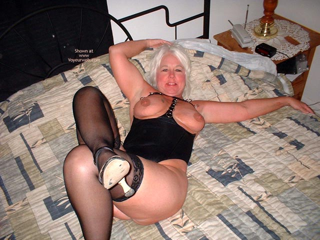 Pic #8 - Tammy In Mini And Stockings, With Whip