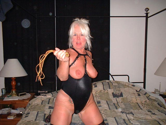 Pic #9 - Tammy In Mini And Stockings, With Whip