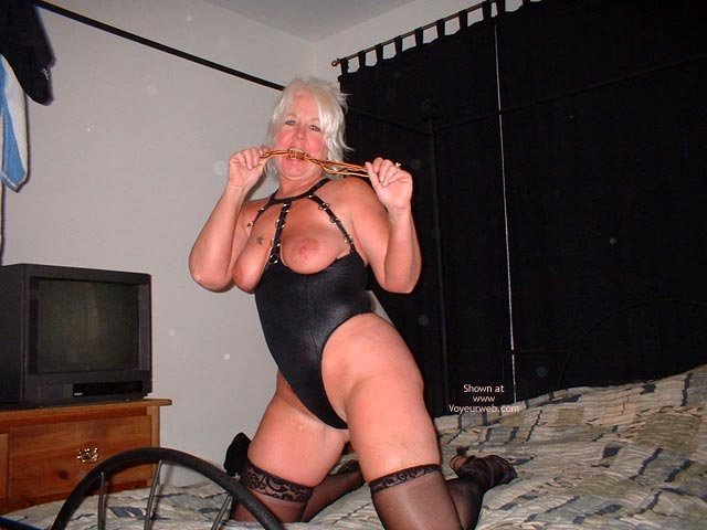 Pic #10 - Tammy In Mini And Stockings, With Whip