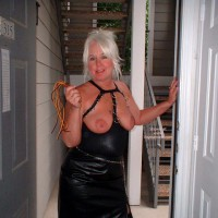 Tammy In Mini And Stockings, With Whip