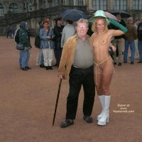 Nude In Public - Blonde Hair, Nude In Public, Top