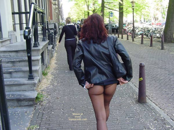 Pic #2 - Monique Flashing Her Hot Behind In Amsteram