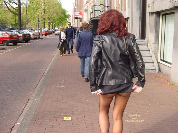 Pic #3 - Monique Flashing Her Hot Behind In Amsteram