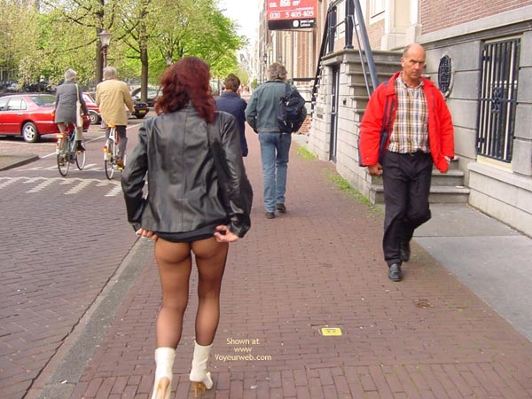 Pic #4 - Monique Flashing Her Hot Behind In Amsteram