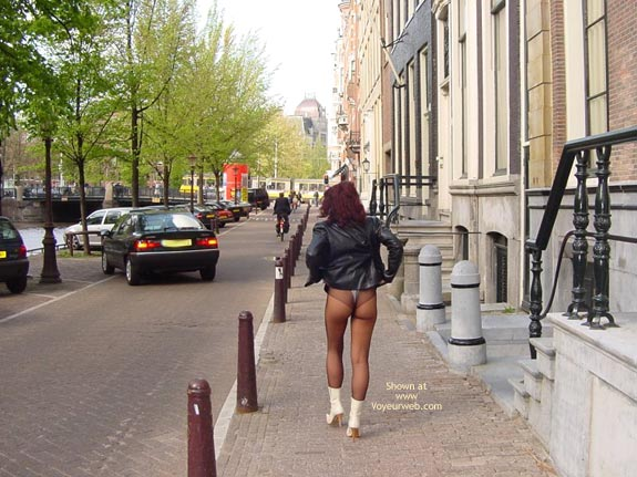 Pic #6 - Monique Flashing Her Hot Behind In Amsteram
