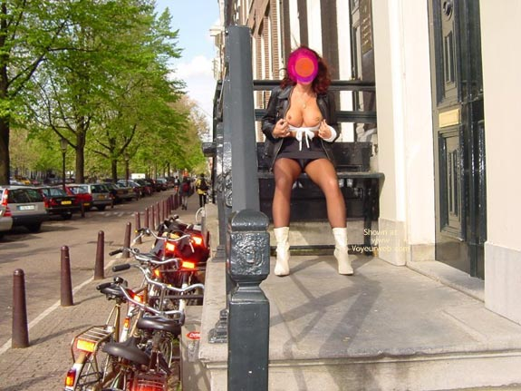 Pic #8 - Monique Flashing Her Hot Behind In Amsteram