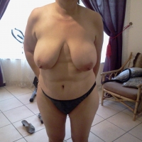 Very large tits of my wife - liz
