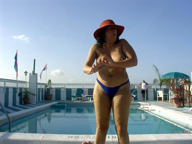 Pic #8 - Wife 48 At The Tiki Bar And Pool In South Fla